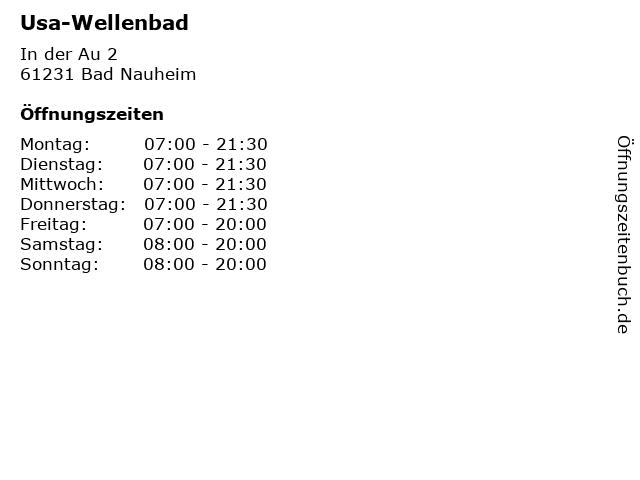 Usa-Wellenbad in Bad Nauheim: Adresse und Öffnungszeiten