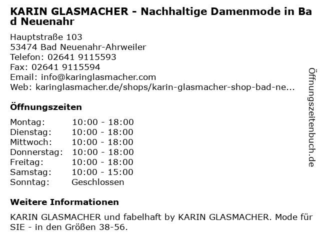Collection Karin Glasmacher Shop in Bad Neuenahr: Adresse und Öffnungszeiten