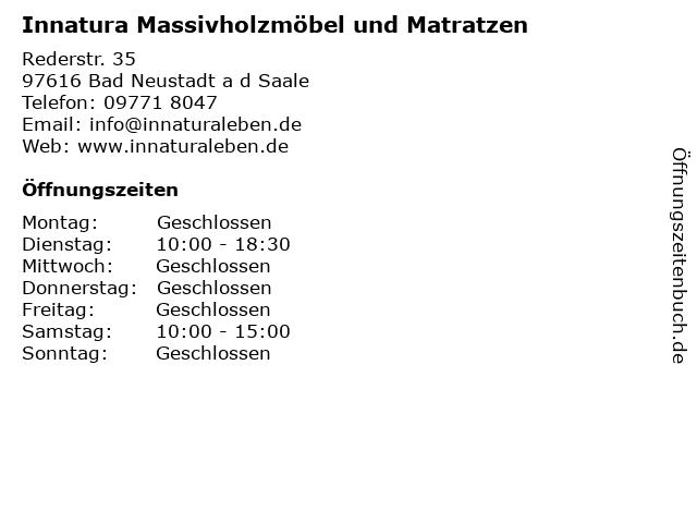 ᐅ Offnungszeiten Innatura Mobel Rederstrasse 3 5 In Bad Neustadt