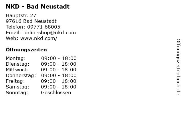 NKD - Bad Neustadt in Bad Neustadt: Adresse und Öffnungszeiten