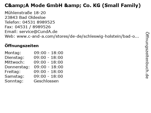 C&A Mode GmbH & Co. KG (Small Family) in Bad Oldesloe: Adresse und Öffnungszeiten