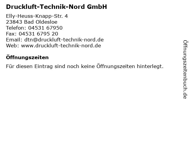Druckluft-Technik-Nord GmbH in Bad Oldesloe: Adresse und Öffnungszeiten