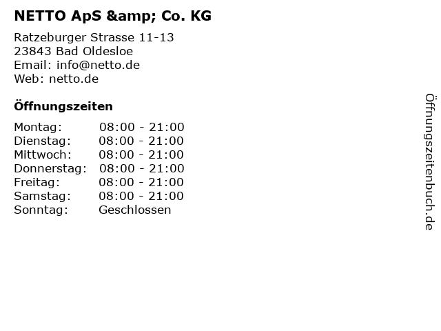 NETTO ApS & Co. KG in Bad Oldesloe: Adresse und Öffnungszeiten