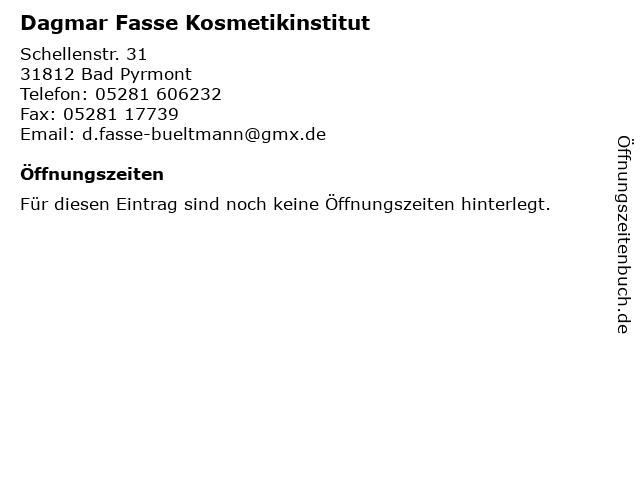 Dagmar Fasse Kosmetikinstitut in Bad Pyrmont: Adresse und Öffnungszeiten