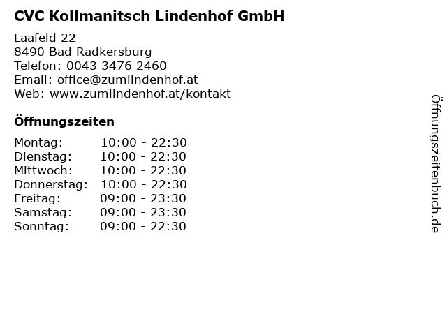 CVC Kollmanitsch Lindenhof GmbH in Bad Radkersburg: Adresse und Öffnungszeiten
