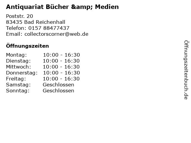 Antiquariat Bücher & Medien in Bad Reichenhall: Adresse und Öffnungszeiten