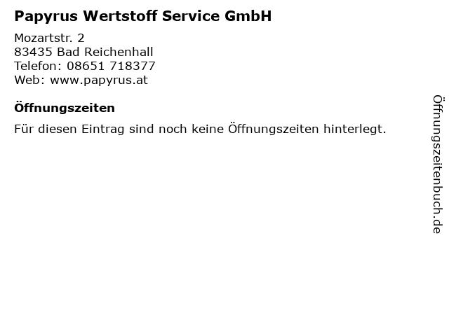 Papyrus Wertstoff Service GmbH in Bad Reichenhall: Adresse und Öffnungszeiten