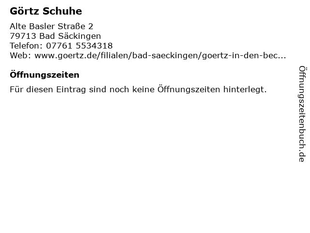Görtz Retail GmbH in Bad Säckingen: Adresse und Öffnungszeiten