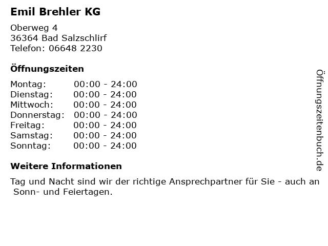 Emil Brehler KG in Bad Salzschlirf: Adresse und Öffnungszeiten
