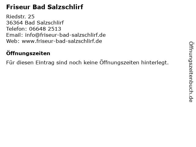 Friseur Bad Salzschlirf in Bad Salzschlirf: Adresse und Öffnungszeiten