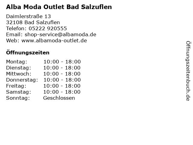 """popular brand check out so cheap ᐅ Öffnungszeiten """"Alba Moda Outlet Bad Salzuflen ..."""
