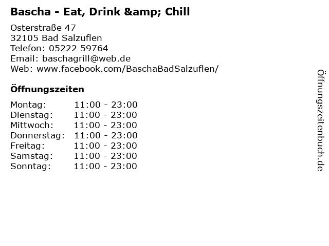 Bascha - Eat, Drink & Chill in Bad Salzuflen: Adresse und Öffnungszeiten