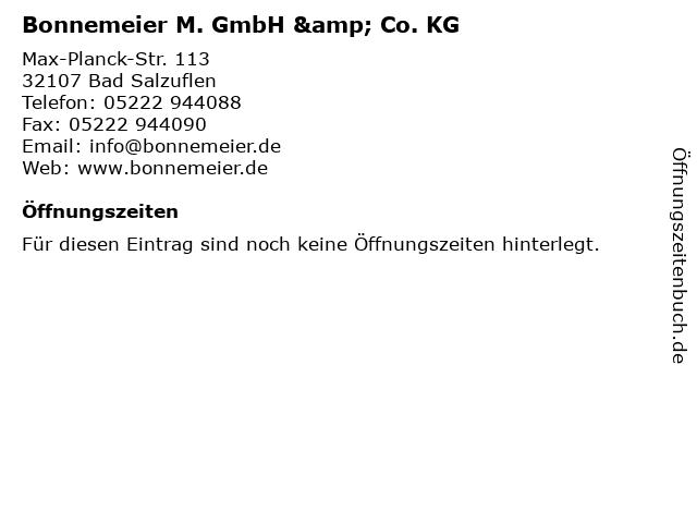 Bonnemeier M. GmbH & Co. KG in Bad Salzuflen: Adresse und Öffnungszeiten
