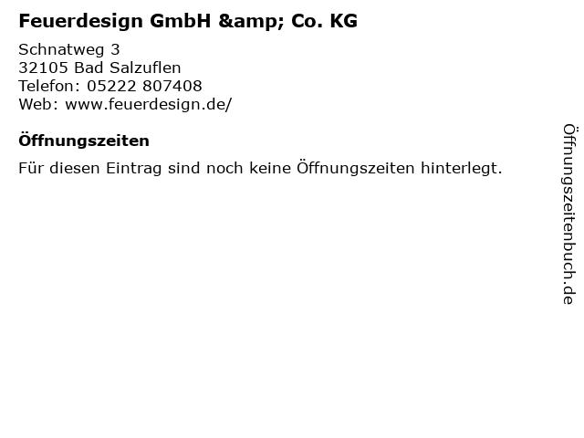 Feuerdesign GmbH & Co. KG in Bad Salzuflen: Adresse und Öffnungszeiten