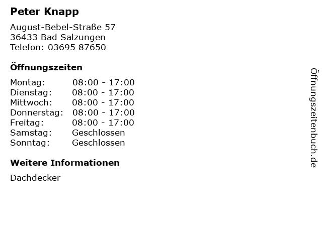 Peter Knapp in Bad Salzungen: Adresse und Öffnungszeiten