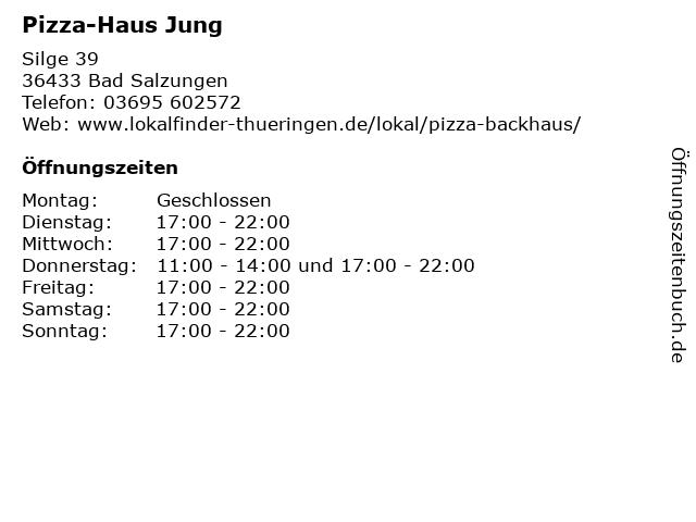 Pizza-Haus Jung in Bad Salzungen: Adresse und Öffnungszeiten