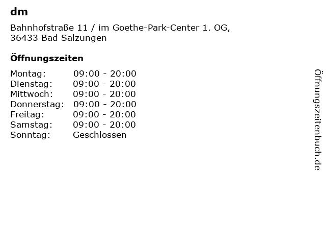 dm in Bad Salzungen: Adresse und Öffnungszeiten