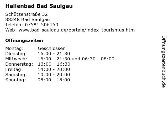 Hallenbad Bad Saulgau in Bad Saulgau: Adresse und Öffnungszeiten