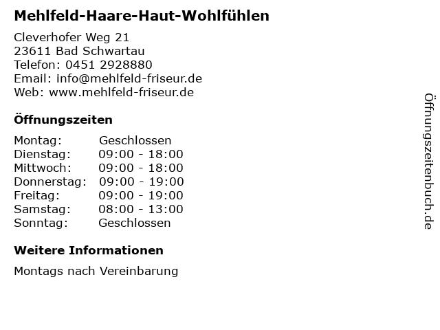 Mehlfeld-Haare-Haut-Wohlfühlen in Bad Schwartau: Adresse und Öffnungszeiten