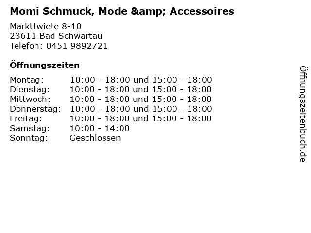 Momi Schmuck, Mode & Accessoires in Bad Schwartau: Adresse und Öffnungszeiten