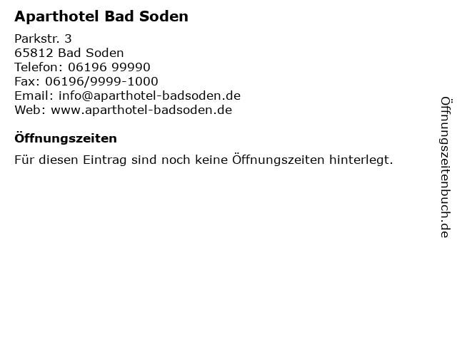 Aparthotel Bad Soden in Bad Soden: Adresse und Öffnungszeiten