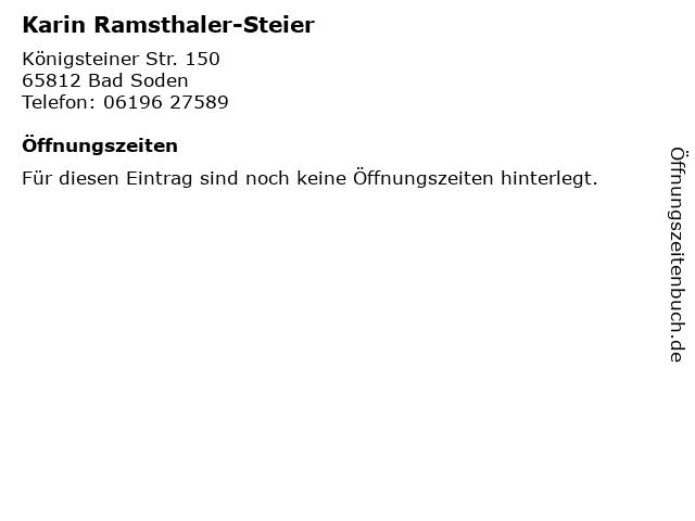 Karin Ramsthaler-Steier in Bad Soden: Adresse und Öffnungszeiten