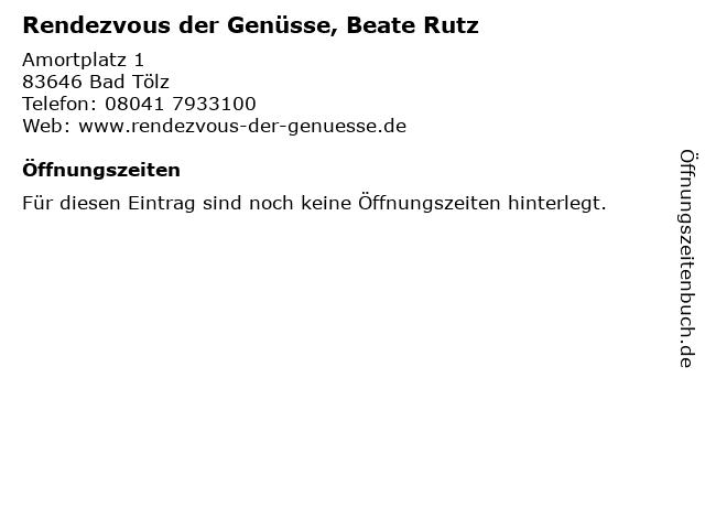 Rendezvous der Genüsse, Beate Rutz in Bad Tölz: Adresse und Öffnungszeiten
