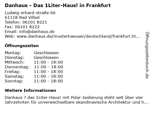 """ᐅ Öffnungszeiten """"Danhaus Musterhaus-Ausstellung""""   Ludwig-Erhard ..."""