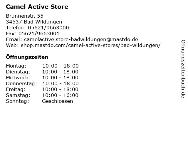Camel Active Store in Bad Wildungen: Adresse und Öffnungszeiten