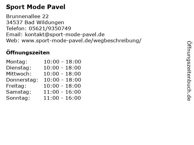 Sport Mode Pavel in Bad Wildungen: Adresse und Öffnungszeiten
