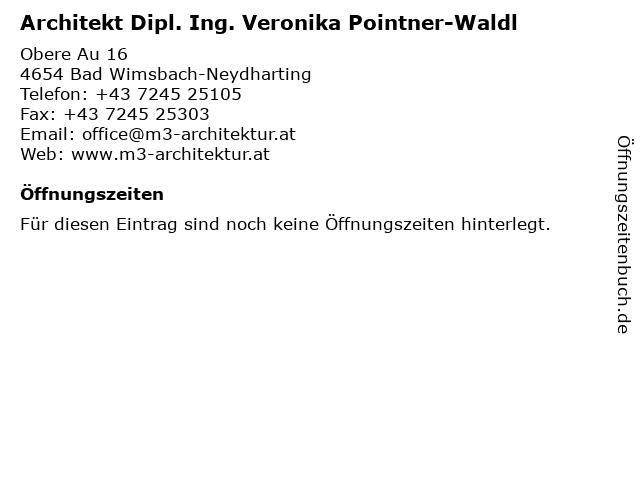 Architekt Dipl. Ing. Veronika Pointner-Waldl in Bad Wimsbach-Neydharting: Adresse und Öffnungszeiten