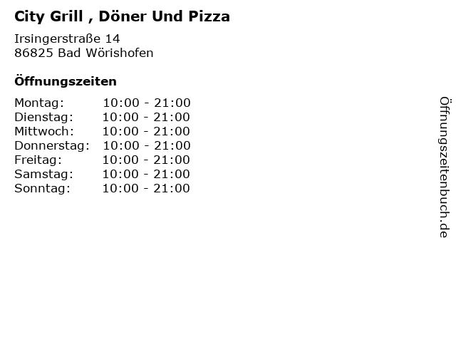 City Grill , Döner Und Pizza in Bad Wörishofen: Adresse und Öffnungszeiten