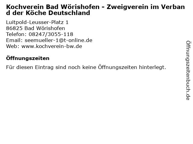 Kochverein Bad Wörishofen - Zweigverein im Verband der Köche Deutschland in Bad Wörishofen: Adresse und Öffnungszeiten