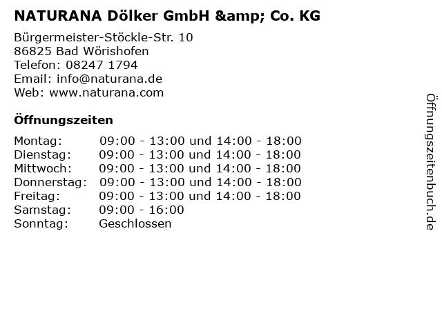 NATURANA Dölker GmbH & Co. KG in Bad Wörishofen: Adresse und Öffnungszeiten