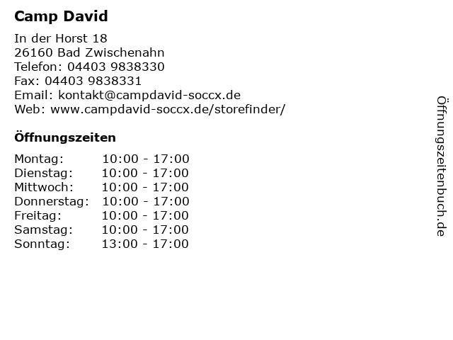 Camp David - Soccx Store in Bad Zwischenahn: Adresse und Öffnungszeiten