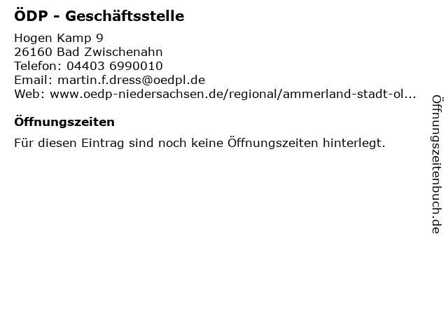 ÖDP - Geschäftsstelle in Bad Zwischenahn: Adresse und Öffnungszeiten