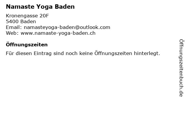 Namaste Yoga Baden in Baden: Adresse und Öffnungszeiten