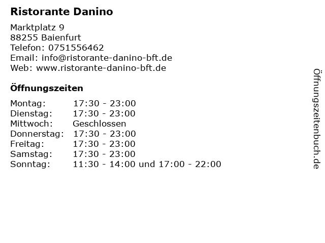 Ristorante Danino in Baienfurt: Adresse und Öffnungszeiten