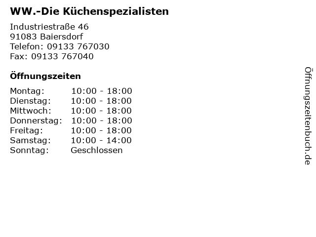 ᐅ öffnungszeiten Ww Die Küchenspezialisten Industriestraße 46