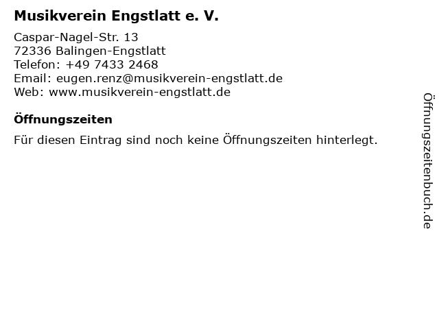 Musikverein Engstlatt e. V. in Balingen-Engstlatt: Adresse und Öffnungszeiten