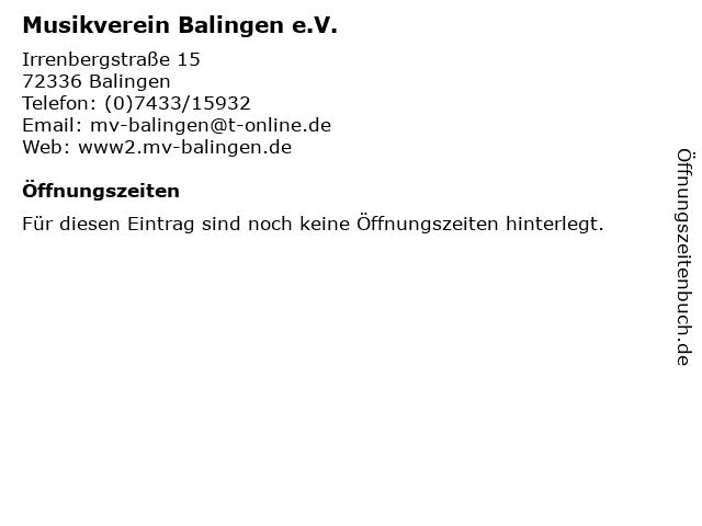 Musikverein Balingen e.V. in Balingen: Adresse und Öffnungszeiten