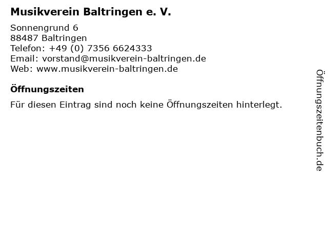 Musikverein Baltringen e. V. in Baltringen: Adresse und Öffnungszeiten