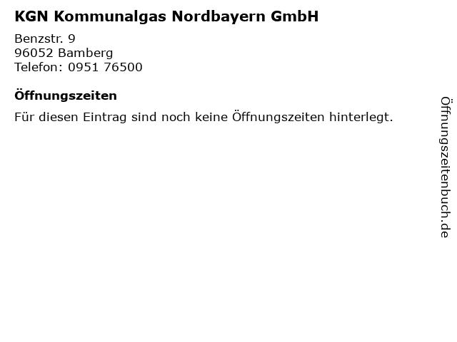 KGN Kommunalgas Nordbayern GmbH in Bamberg: Adresse und Öffnungszeiten