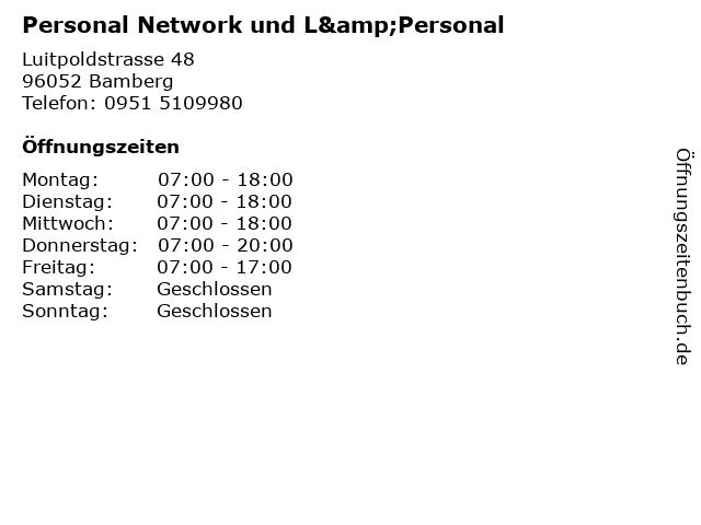 Personal Network und L&Personal in Bamberg: Adresse und Öffnungszeiten