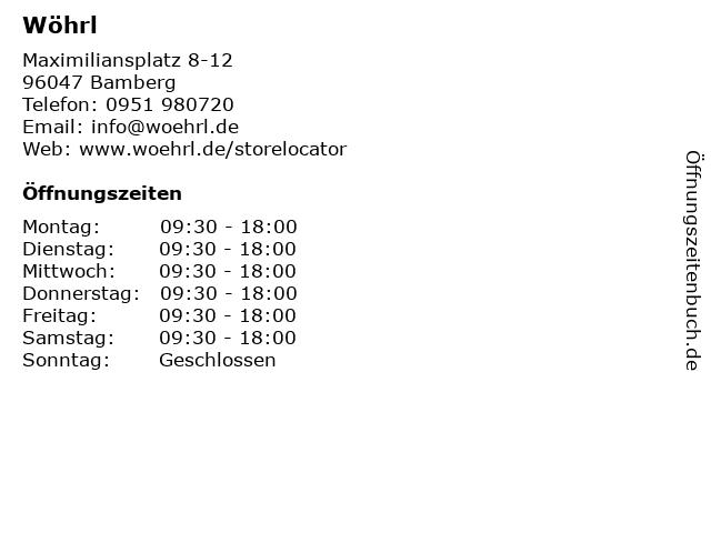 Rudolf Wöhrl AG in Bamberg: Adresse und Öffnungszeiten