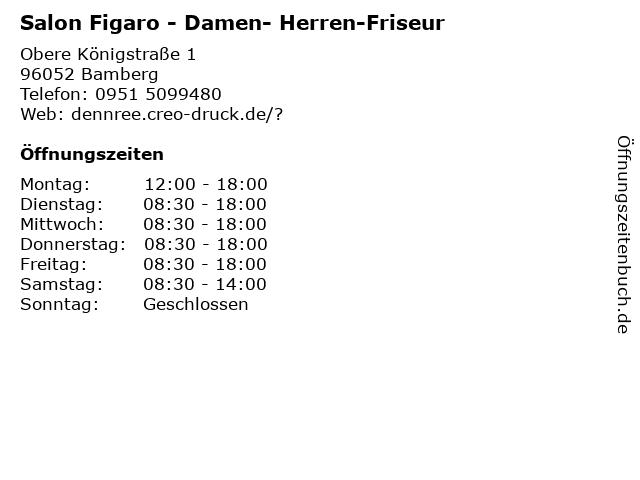 Salon Figaro - Damen- Herren-Friseur in Bamberg: Adresse und Öffnungszeiten