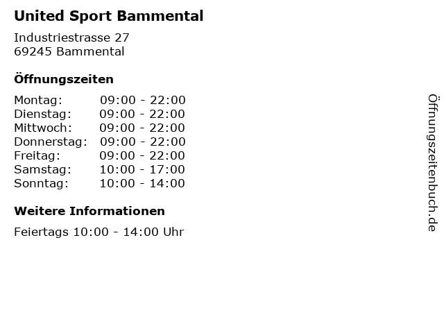 United Sport Bammental in Bammental: Adresse und Öffnungszeiten