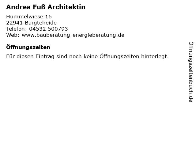 Andrea Fuß Architektin in Bargteheide: Adresse und Öffnungszeiten