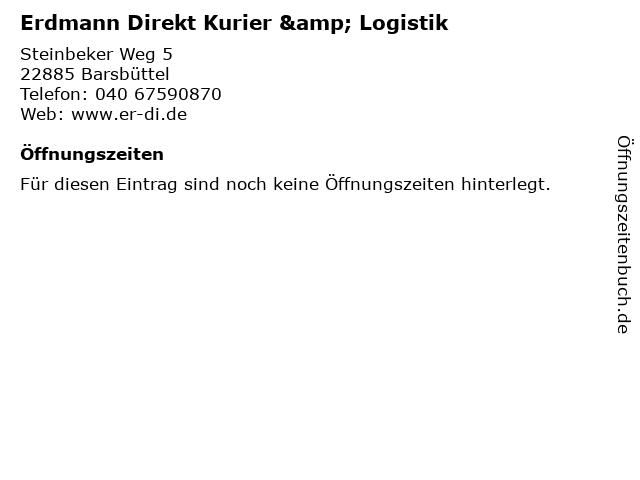 Erdmann Direkt Kurier & Logistik in Barsbüttel: Adresse und Öffnungszeiten