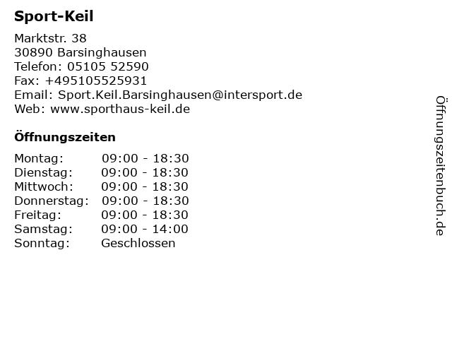 Sport-Keil in Barsinghausen: Adresse und Öffnungszeiten